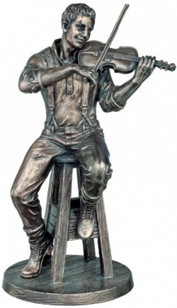 Picture of The Fiddle Player Bronze Figurine