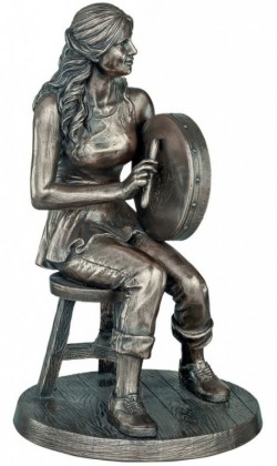Picture of The Bodhran Player Bronze Figurine