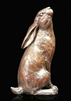 Picture of Hare Moon Gazing Bronze Figurine (Limited Edition) Michael Simpson