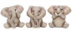 Picture of Three Wise Elephants Set of 3 Figurines Small