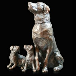Picture of Labrador with Puppies Bronze Figurine (Limited Edition) Michael Simpson