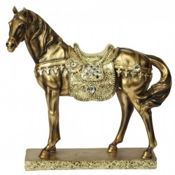 Picture of Gold and Bronze Finish Horse Figurine (Juliana) Large 32 cm