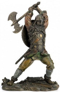 Picture of Viking Attacking Bronze Statue 22.5cm
