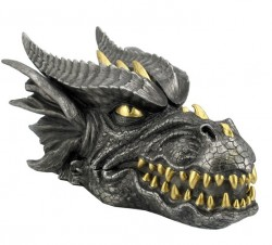 Picture of Dragon Head Black and Gold Trinket Box