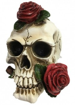 Picture of Skull and Roses Ornament 20 cm Large