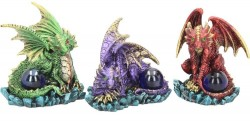 Picture of Dragon Guards (Set of 3) Dragon Ornaments 9 cm