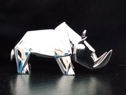 Picture of Rhino Standing Hallmarked Sterling Silver Miniature NOMI Design