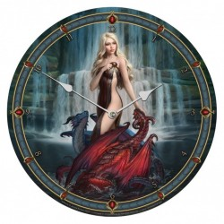 Picture of Dragon Bathers Wall Clock (James Ryman) 34 cm
