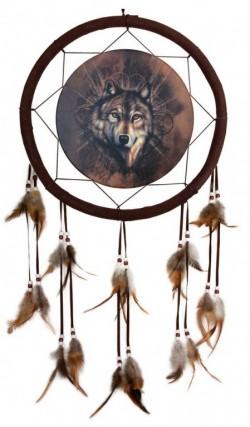 Picture of Lone Wolf Dream Catcher 33 cm