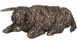 Picture of Highland Bull Bronze Sculpture Sitting Medium