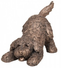 Picture of Barney the Cockapoo Playing Bronze Sculpture (Frith) 25 cm