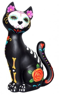 Picture of Sugar Skull Cat Figurine 26 cm