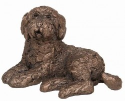 Picture of Koko Labradoodle Lying Bronze Sculpture (Frith) 12cm