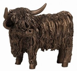 Picture of Highland Cow Standing Bronze Sculpture