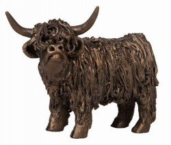 Picture of Highland Cow Standing Junior Bronze Sculpture Small