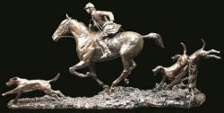 Picture of Open Fields Solid Bronze Hunting Figurine (Limited Edition) David Geenty 57 cm