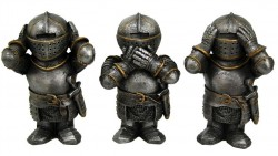 Picture of Three Wise Knights Figurine NEW