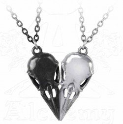 Picture of Coeur Crane - Couples Friendship Raven Skull Necklace