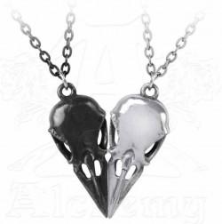Picture of Coeur Crane - Couples Friendship Raven Skull Necklace