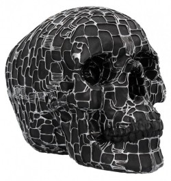 Picture of Neural Network Black Skull Cyberpunk Ornament