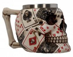 Picture of Dead Mans Hand Skull Tankard