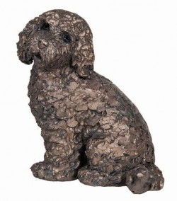 Picture of Jasper the Cockapoo Sitting Bronze Sculpture (Frith) 14 cm