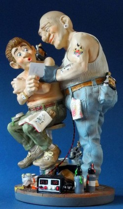 Picture of Tattooist Figurine 32cm Profisti