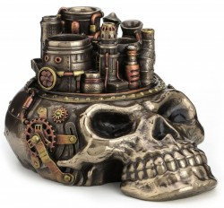Picture of Steampunk Skull City Pen Holder Ornament