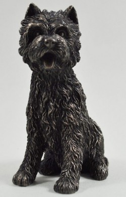 Picture of West Highland Terrier Sitting Bronze Dog Sculpture Small
