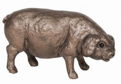 Picture of Pig Standing Bronze Figurine SMALL (Thomas Meadows) FRITH MINIMA