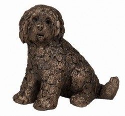 Picture of Shorty Labradoodle Bronze Figurine SMALL Adrian Tinsley FRITH MINIMA