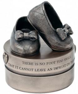 Picture of Baby Girl Booties Bronze Trinket Box Genesis