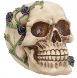 Picture of Skull and Roses Ornament Purple NEW