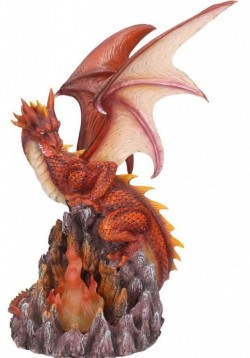 Picture of Dragon of the Volcano Figurine Light Feature 29 cm