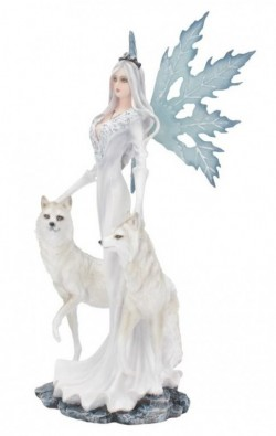 Picture of Aura Queen of Wolves Ice Fairy Statue 24 cm