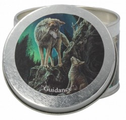 Picture of Guidance Tin Scented Candle - Rose Geranium (Lisa Parker Wolf Artwork)