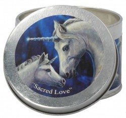 Picture of Sacred Love Tin Scented Candle - Jasmine Tea (Lisa Parker Unicorn Artwork)