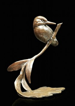 Picture of Kingfisher with Willow Small Figurine (Limited Edition) Michael Simpson