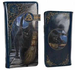 Picture of A Brush With Magick Embossed Cat Purse (Lisa Parker) 18cm