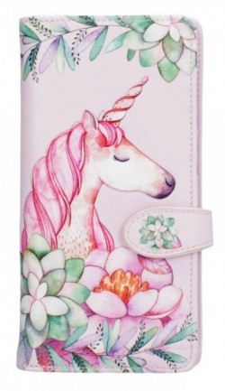 Picture of Pretty in Pink Embossed Unicorn Purse 18cm