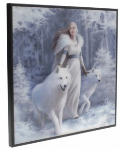 Picture of Winter Guardians Crystal Clear Wolf Picture (Anne Stokes) NEW