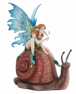 Picture of Snail Ride Fairy Figurine