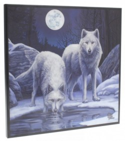 Picture of Warriors of Winter Crystal Clear Wolf Picture (Lisa Parker) NEW