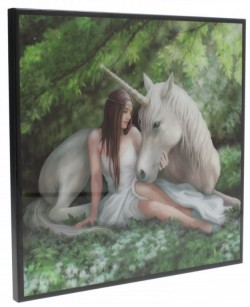 Picture of Pure Heart Crystal Clear Unicorn Picture (Anne Stokes) NEW