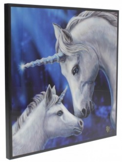 Picture of Sacred Love Crystal Clear Unicorn Picture (Lisa Parker) NEW