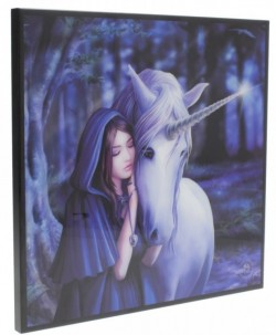 Picture of Solace Crystal Clear Unicorn Picture (Anne Stokes) NEW