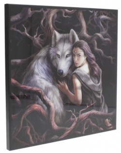 Picture of Soul Bond Crystal Clear Wolf Picture (Anne Stokes) NEW