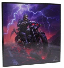 Picture of Hell on the Highway Crystal Clear Skeleton Biker Picture (James Ryman) NEW