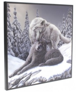 Picture of Snow Kisses Crystal Clear Wolf Picture (Lisa Parker) NEW