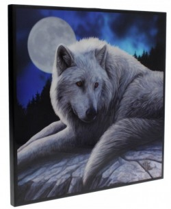 Picture of Guardian of the North Crystal Clear Wolf Picture (Lisa Parker) NEW